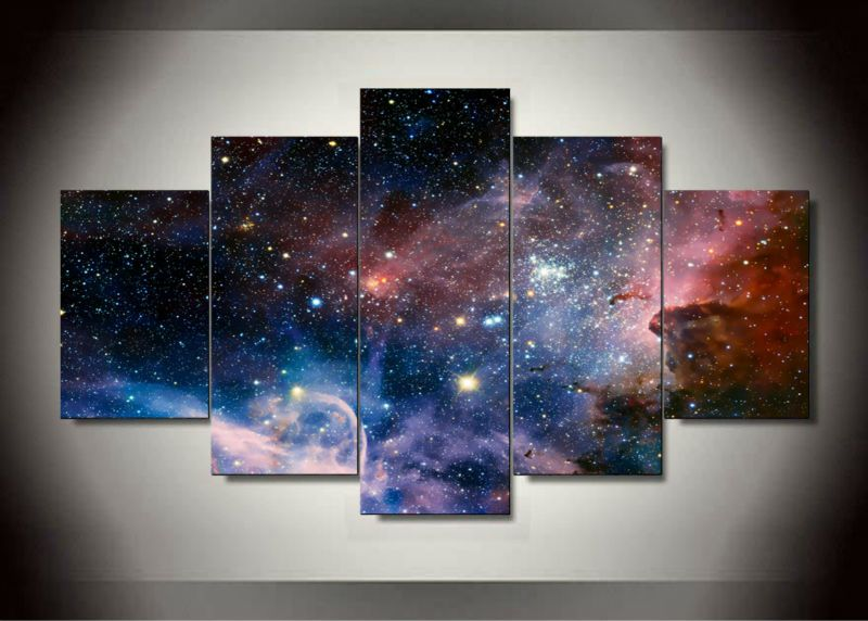 Cheap Prints Pictures Buy Quality Picture For Living Room Directly From China Space Painting Suppliers Packag 5 Panel Wall Art Space Wall Art Space Painting