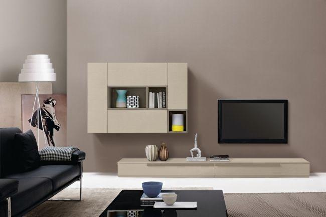 Idées pour décorer un salon avec des meubles de rangement mural