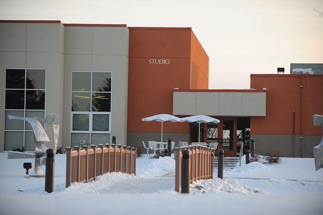 The frosted Art Studio at SVSU