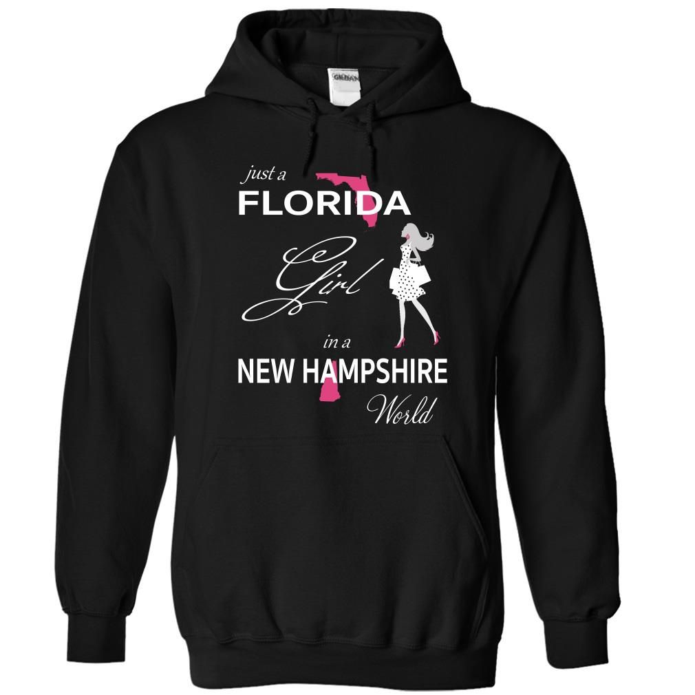 FLORIDA GIRL IN NEW HAMPSHIRE WORLD, Order HERE ==> https://www.sunfrog.com/LifeStyle/FLORIDA_NEW-HAMPSHIRE-Black-75893605-Hoodie.html?id=47756 #christmasgifts #xmasgifts #newhampshire