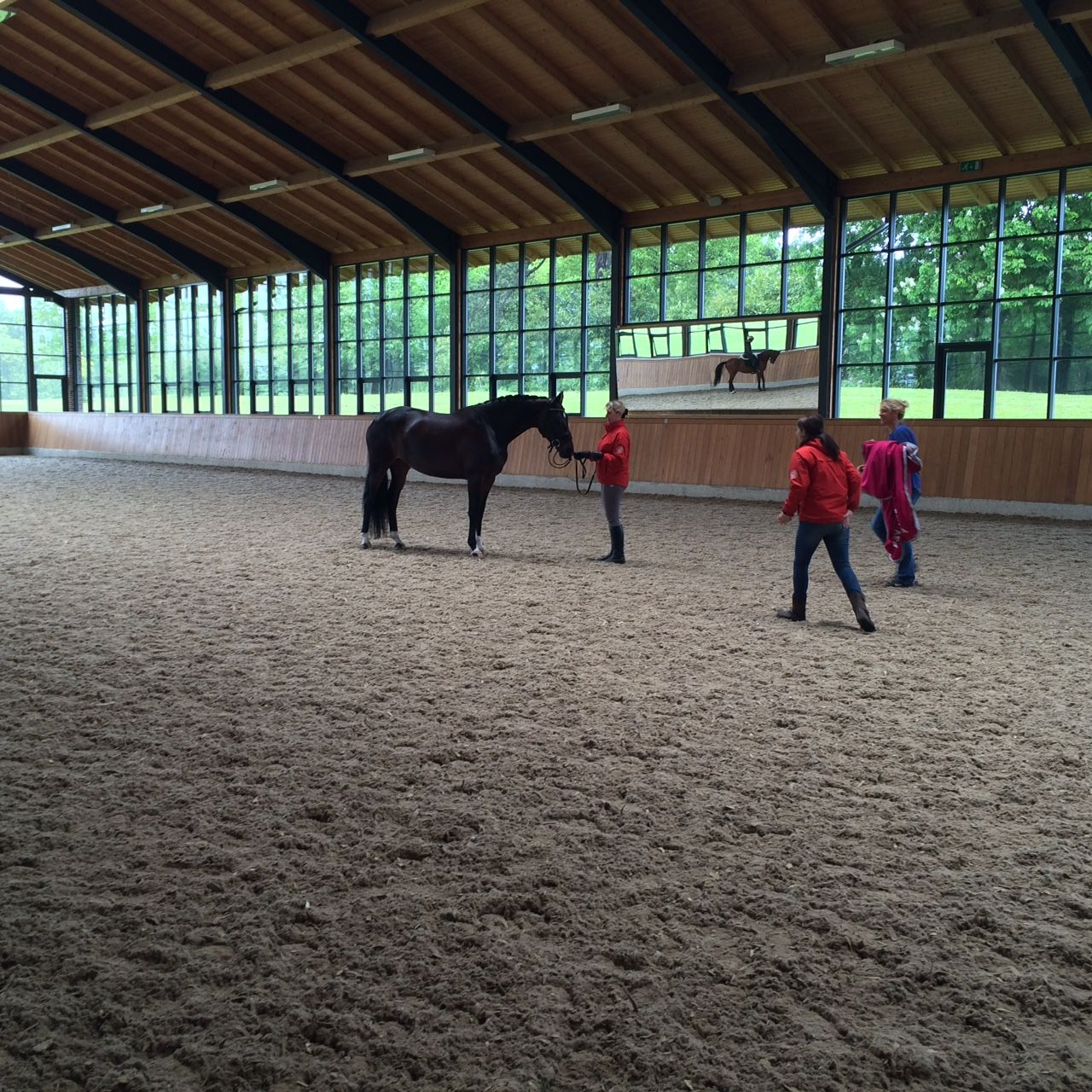 Check Out This Amazing Indoor School At Top British Riders