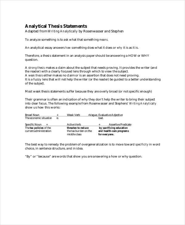 Thesis Statement Templates | 11+ Free MS Word, Excel & PDF | Thesis  Statement, Thesis Statement Examples, Research Paper Thesis Statement