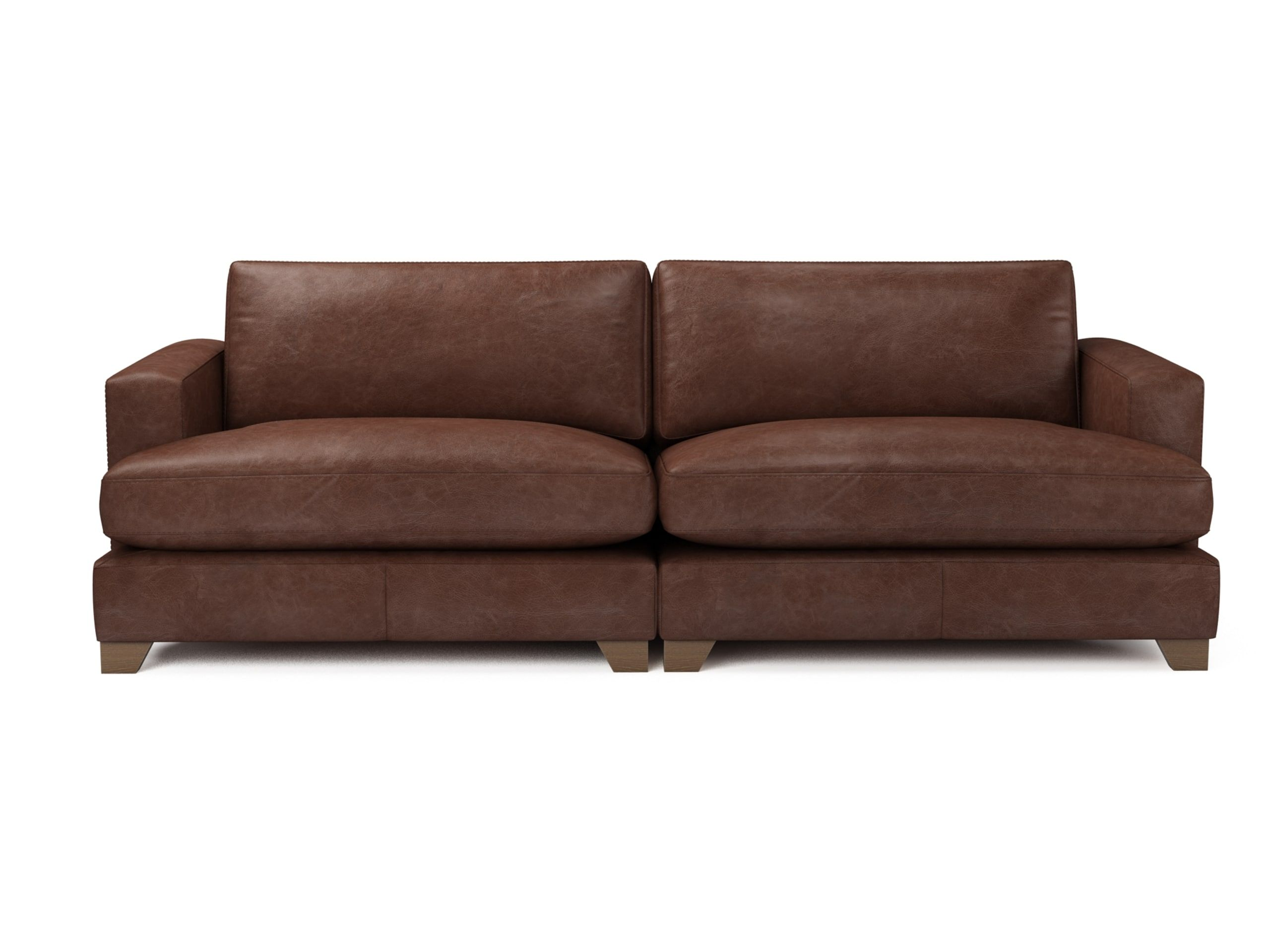 The Lounge Co. Lola 4 Seater Sofa in Distressed Leather ...