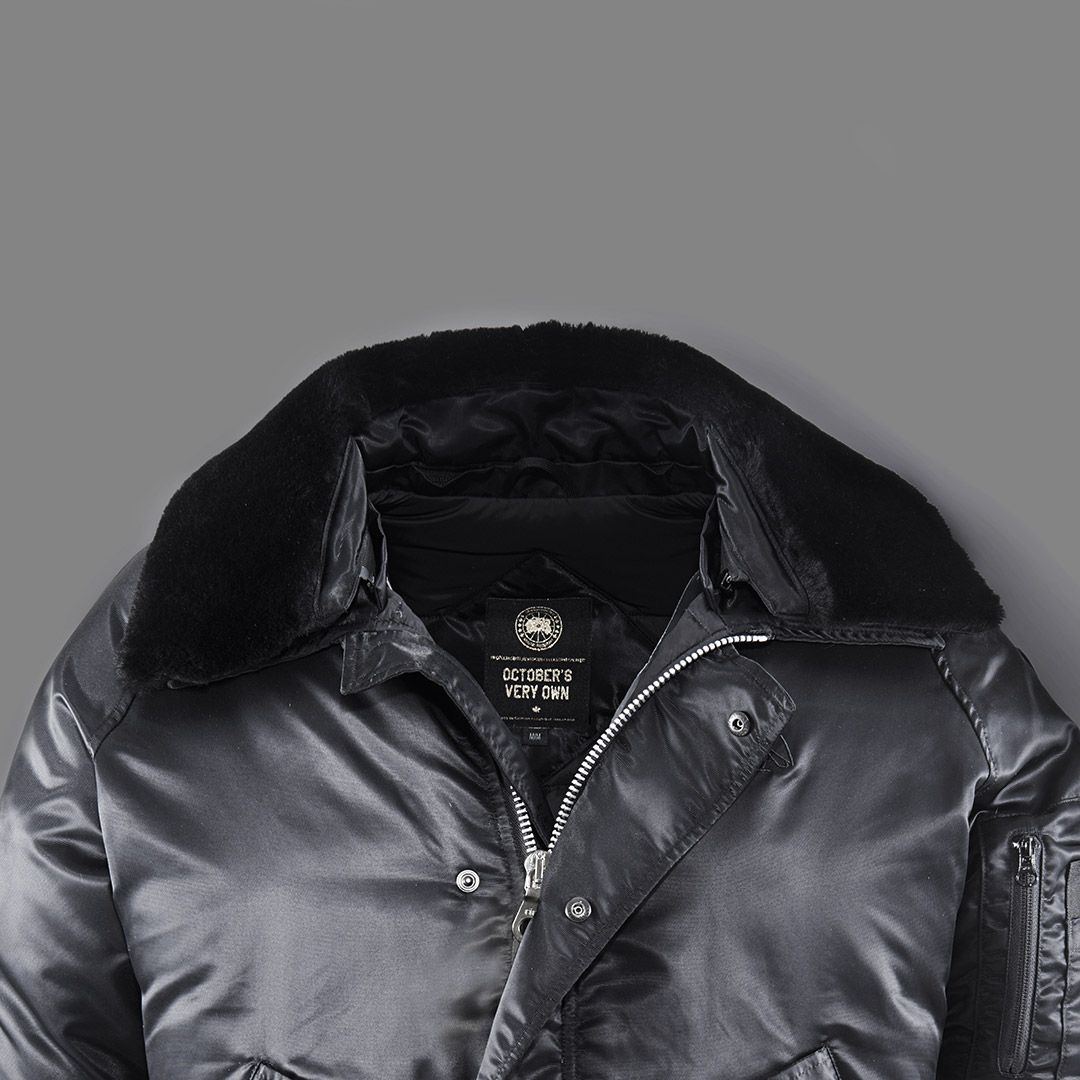 straight from the 6 the canada goose x ovo foxe bomber canada