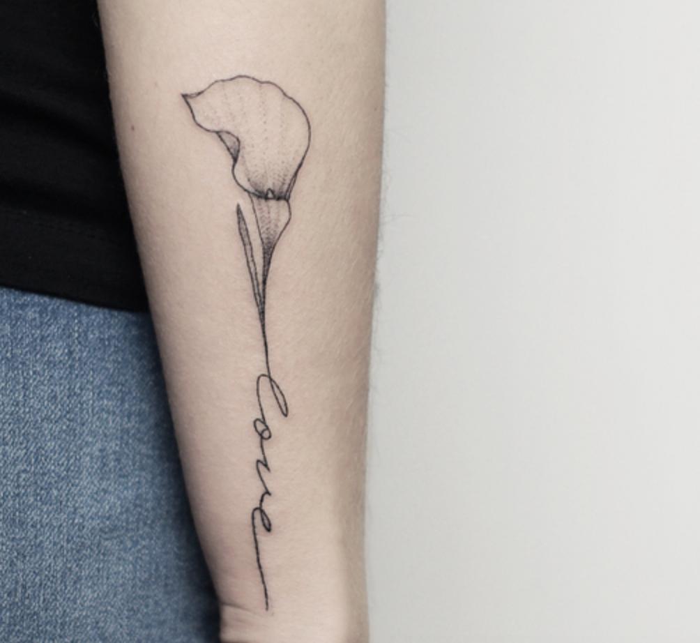 Calla Lilly Tattoo Calla Lily Tattoos Lily Tattoo Small Tattoos