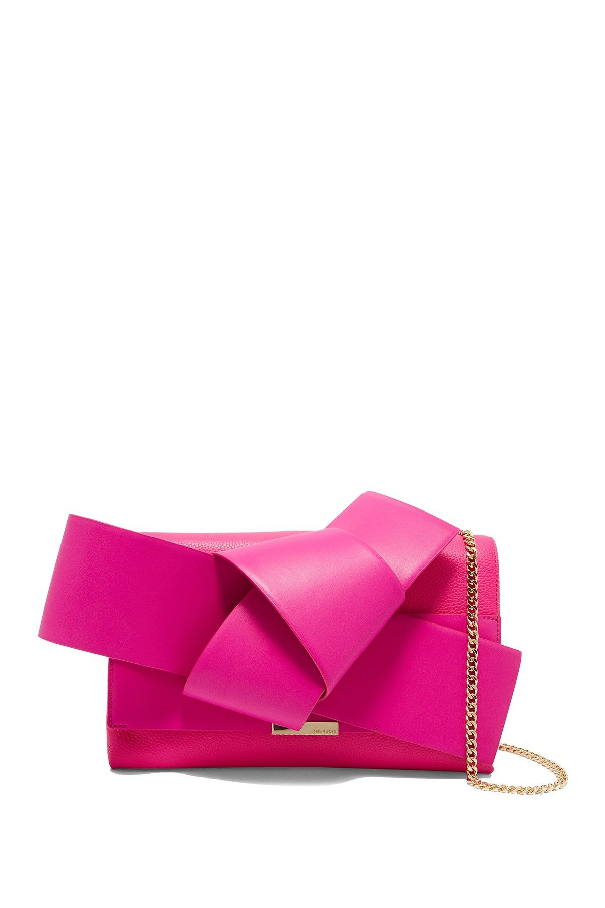 f89e32162feeac Image of Ted Baker London Asterr Giant Knot Bow Clutch Bag