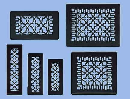 Antique Recreated Cast Iron Victorian Style Floor Ceiling Or Wall Grate For Return Air Intake Or Heat Vents Floor Register Covers Floor Registers Wall Grille