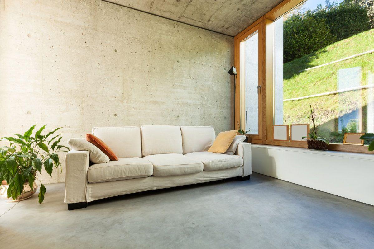 gevlinderde betonvloer woonkamer | Holiday House | Pinterest | House