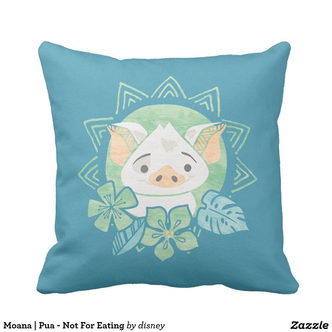 Moana Pua Not For Eating Throw Pillow Decoracion Para El  # Muebles Agustin Moana