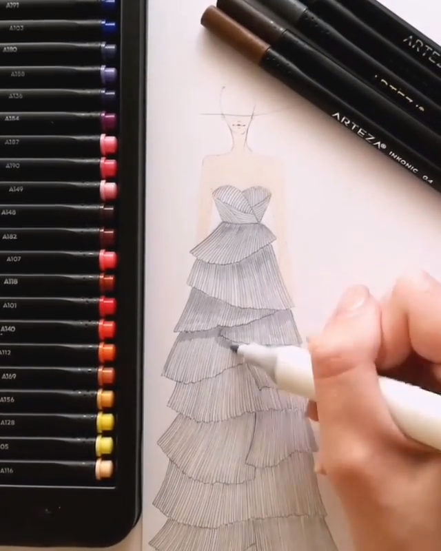 Photo of Fashion Illustration With Fineliners