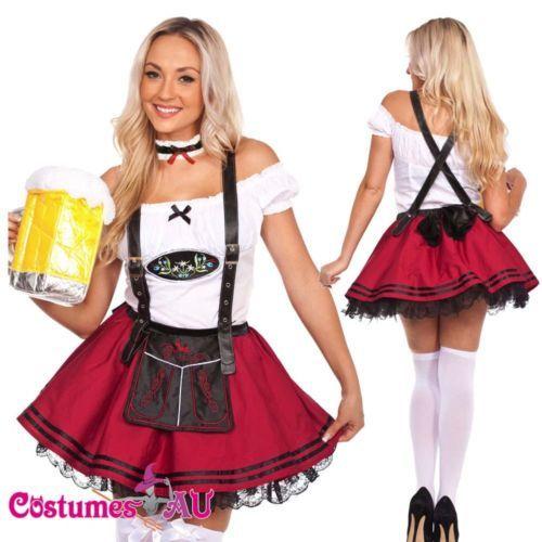 ladies beer maid wench costume oktoberfest gretchen german fancy dress halloween - Ebaycom Halloween Costumes