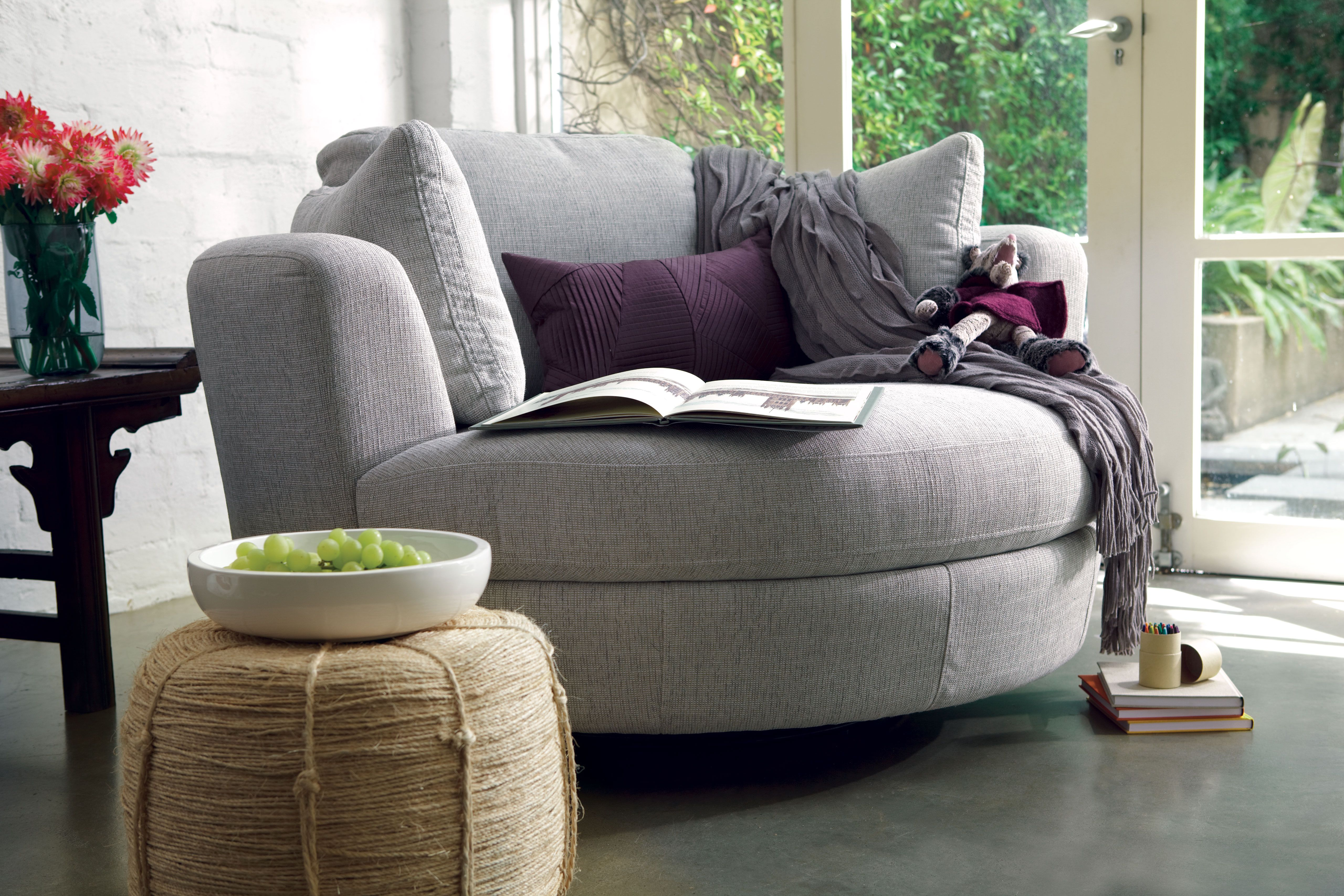 Beautiful Love This Couchy Chair, I Think It Swivels Too  Plush_Snuggle Chair_in U0027Astral