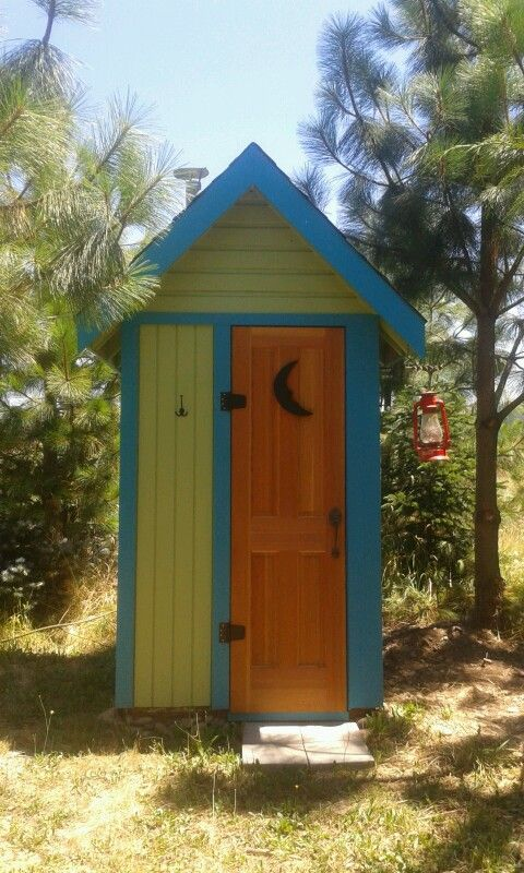 Outhouse, but I would use this design for a small tool shed