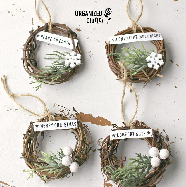 Photo of Mini Grapevine Wreath Christmas Tree Ornaments