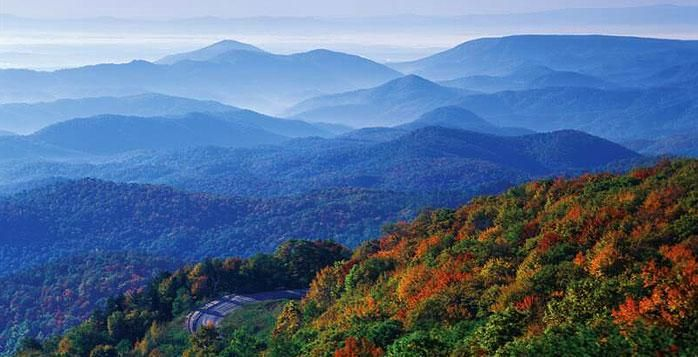 Blue Ridge Mountains North Carolina United States