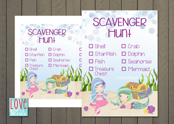 Printable Birthday Scavenger Hunt Clues ~ Nature scavenger hunt for the kids free printable how to nest