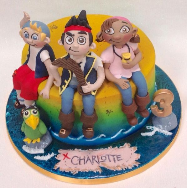 Jake and the neverland pirate cake Dublin Job photos Pinterest