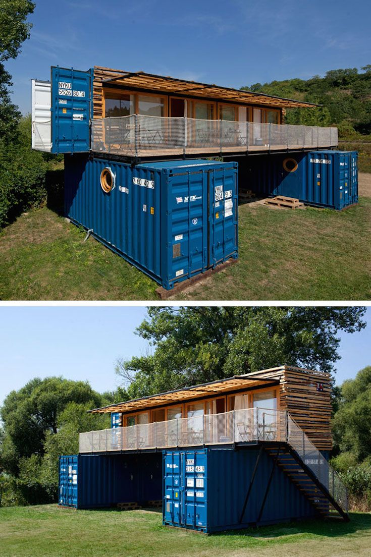 This Small Hotel In The Czech Republic Is Made From Shipping Containers Shipping Container House Plans Container Buildings Container House Design