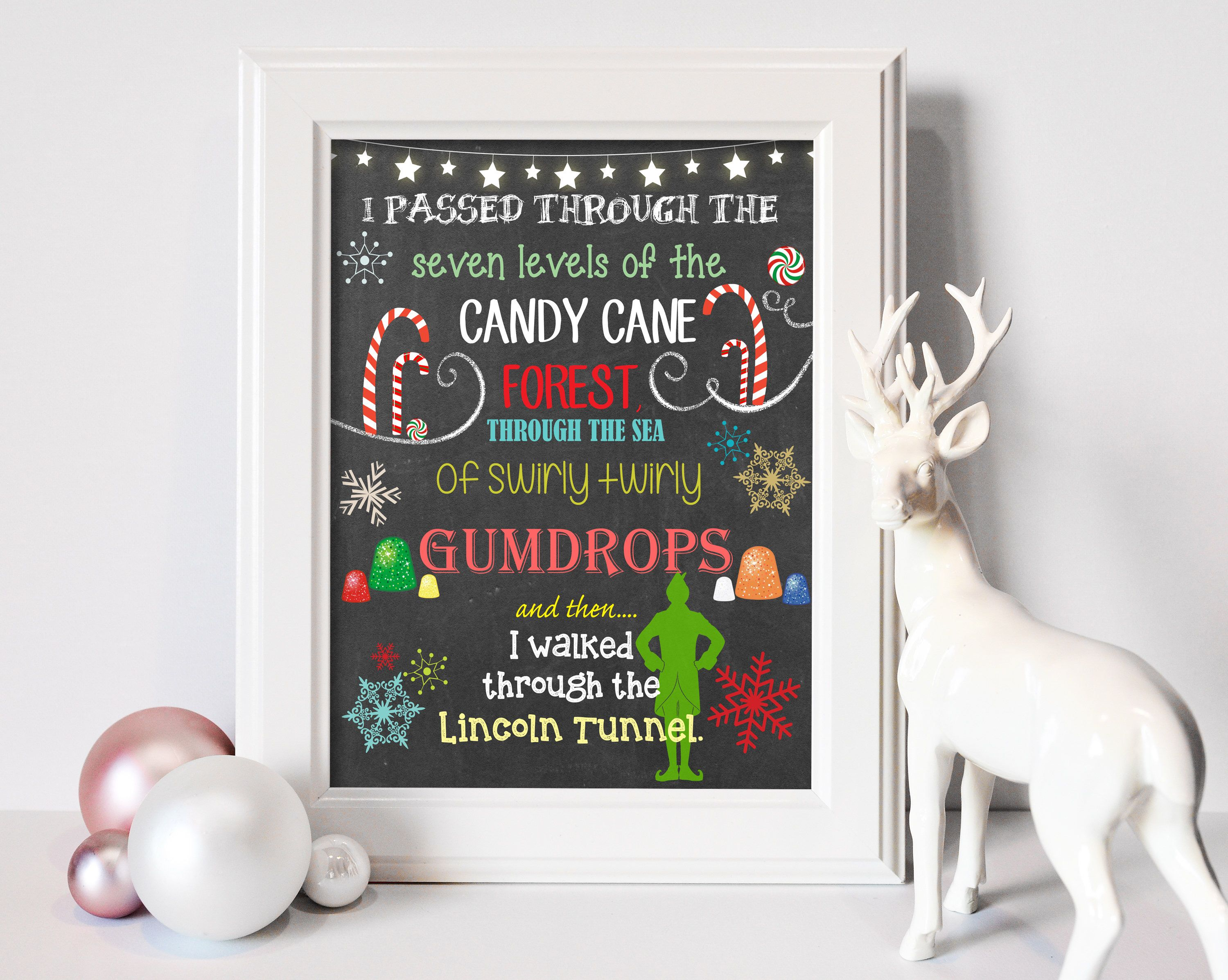 8x10 Buddy the Elf Christmas Printable | Christmas Decor - INSTANT DOWNLOAD by olliewolliecreations on Etsy https://www.etsy.com/listing/214619406/8x10-buddy-the-elf-christmas-printable