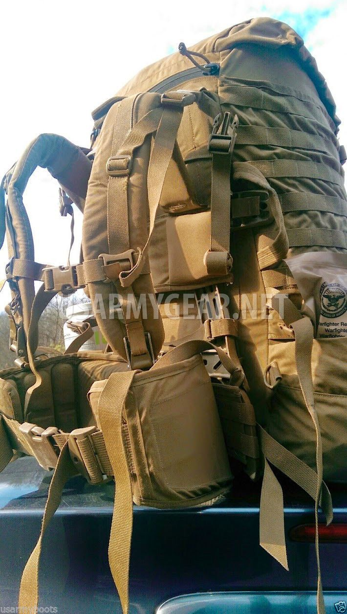 USMC Molle ll FILBE US Marine Coyote Rucksack, Main Backpack w. Straps Belt  Pouches