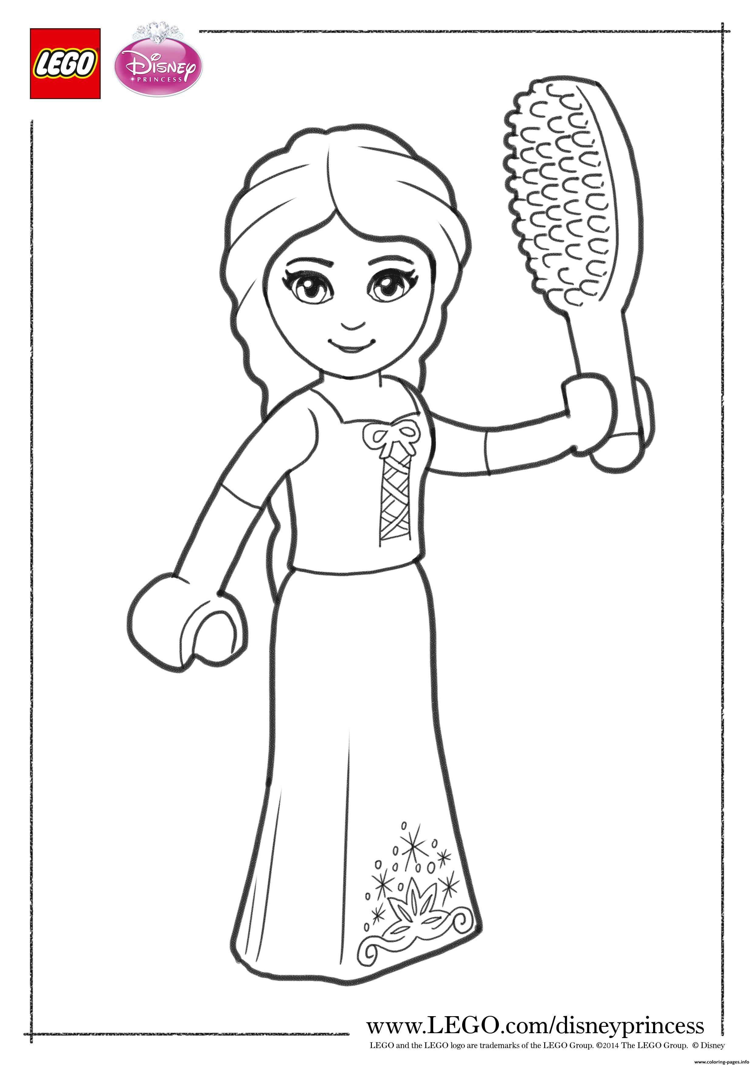 Print Rapunzel Close up lego disney coloring pages  Lego coloring