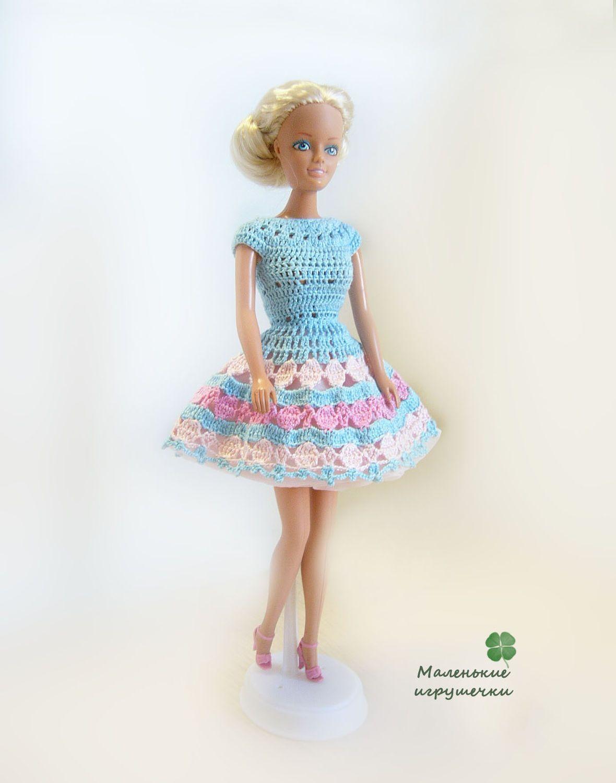 Crochet Dress for Barbie Купить Платье для Барби | Barbie ...
