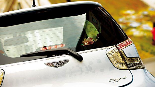 The Cygnet – the smallest Aston Martin. http://www.autorevue.at/best_of_test/fahrberichte/fruhstuck-bei-fanny.html
