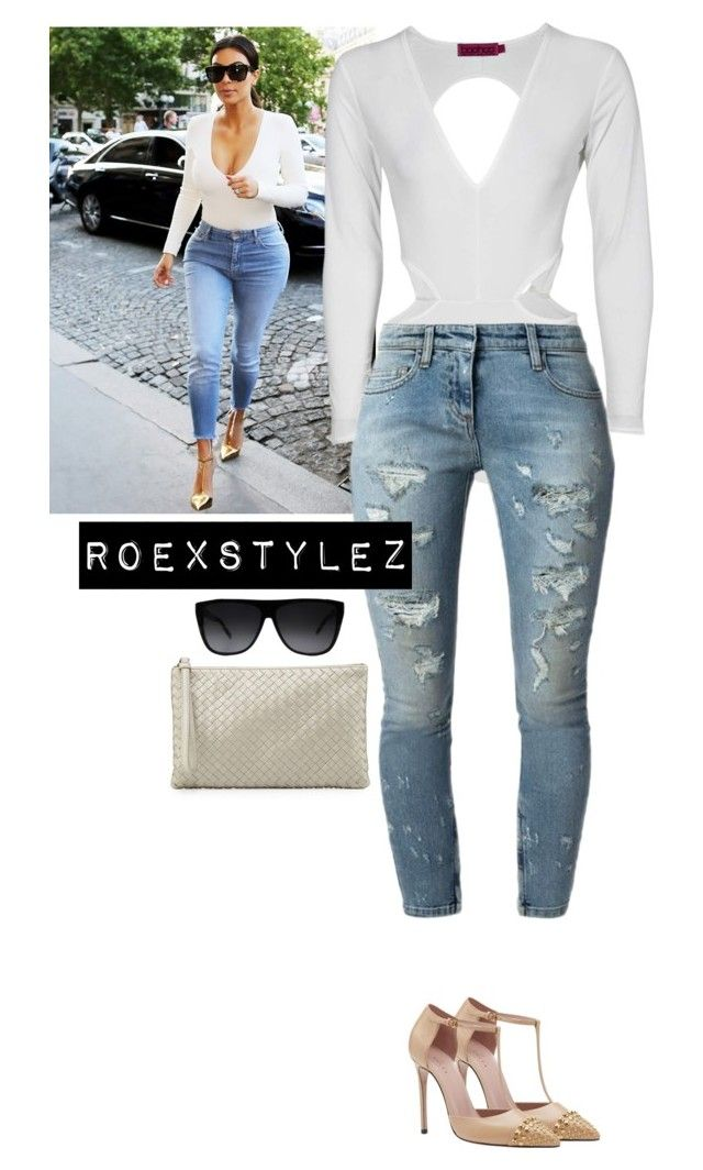 """KIM K KOLLECTION"" by roexstylez89 ❤ liked on Polyvore featuring Gucci, Faith Connexion, Yves Saint Laurent and Bottega Veneta"