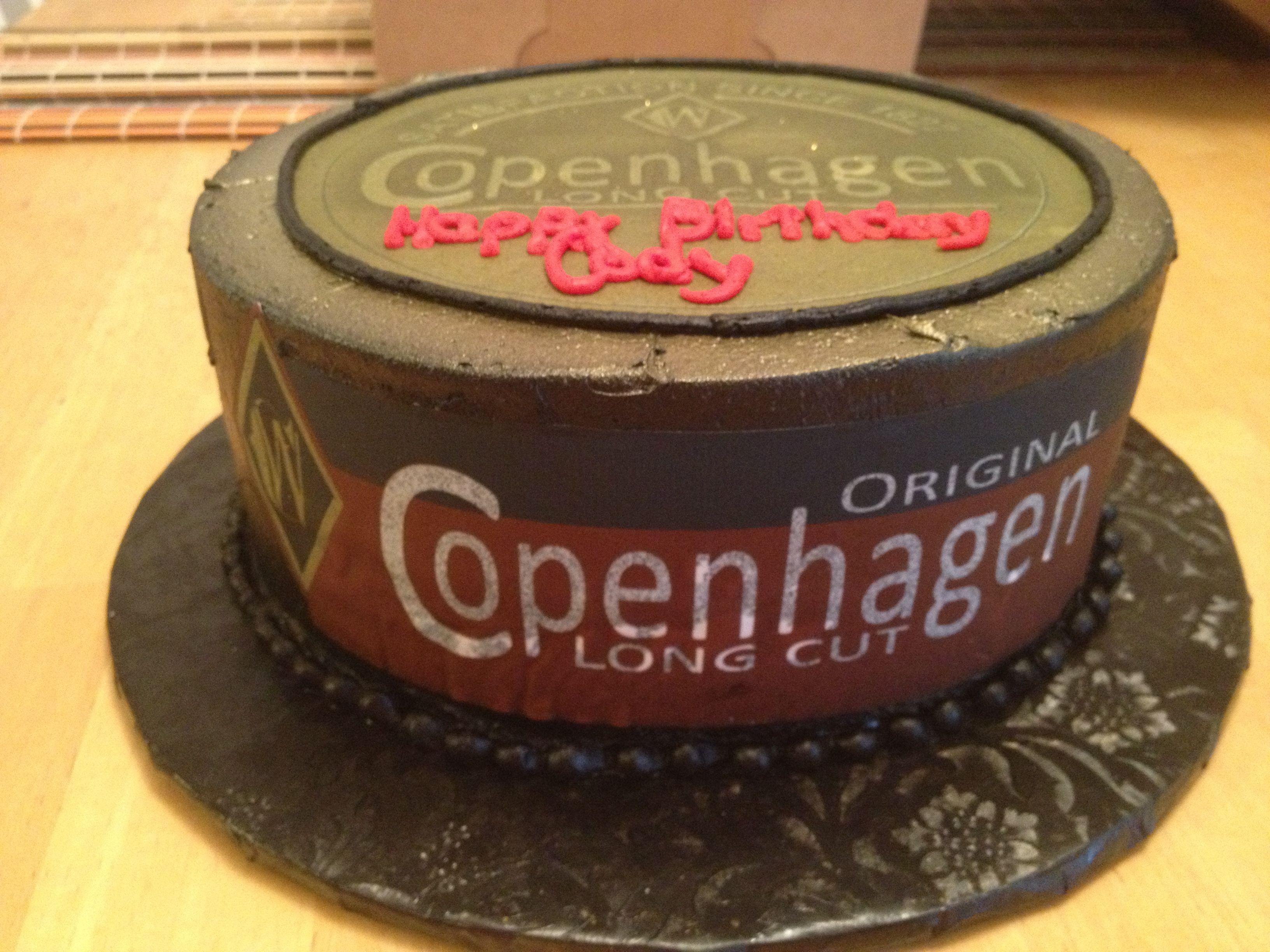 Copenhagen cake for the true country boy Badassness Pinterest