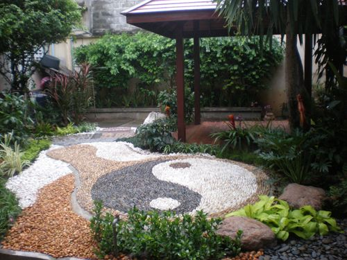 how to design a ying yang garden With the use of larger rocks