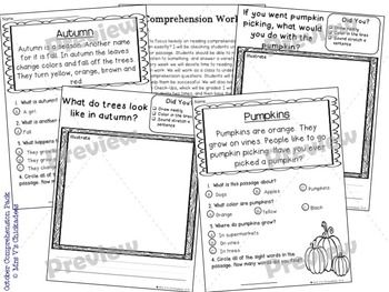 Reading Comprehension Passages & Questions: OCTOBER EDITION | MRS