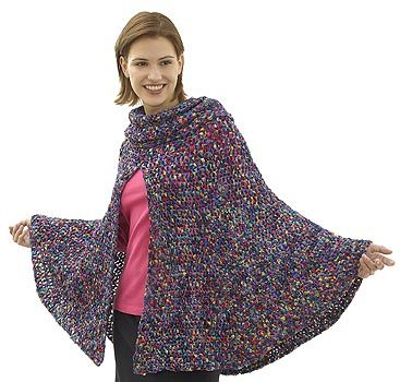 Free Crochet Pattern 40487 Day to Night Poncho : Lion Brand Yarn ...