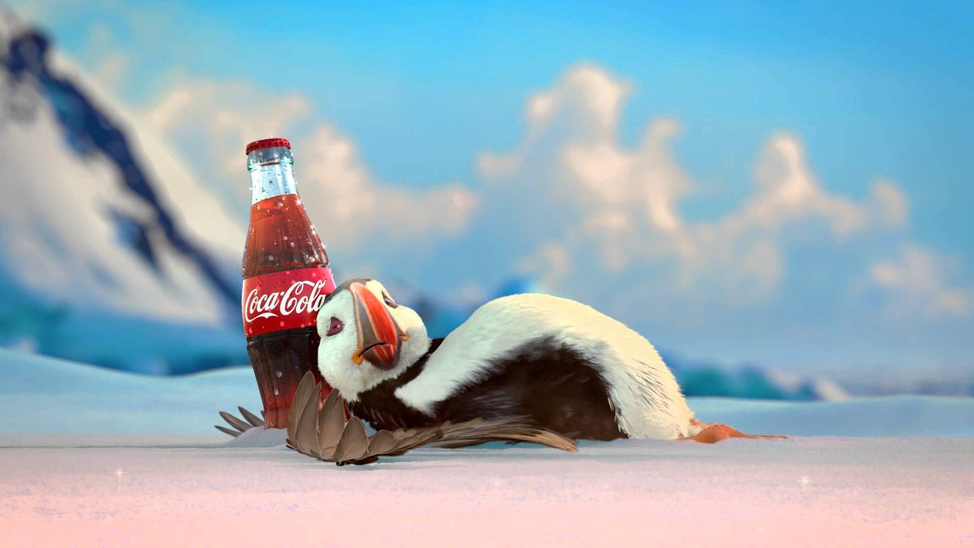 Coca Cola Song Weihnachten.Coca Cola 2013 Holiday Commercial Puffin Coke And A Smile Coca
