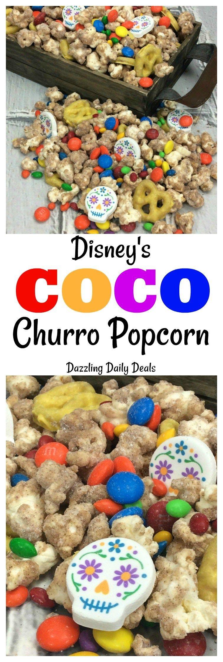 Disney's Coco Churro Popcorn Recipe PixarCocoEvent