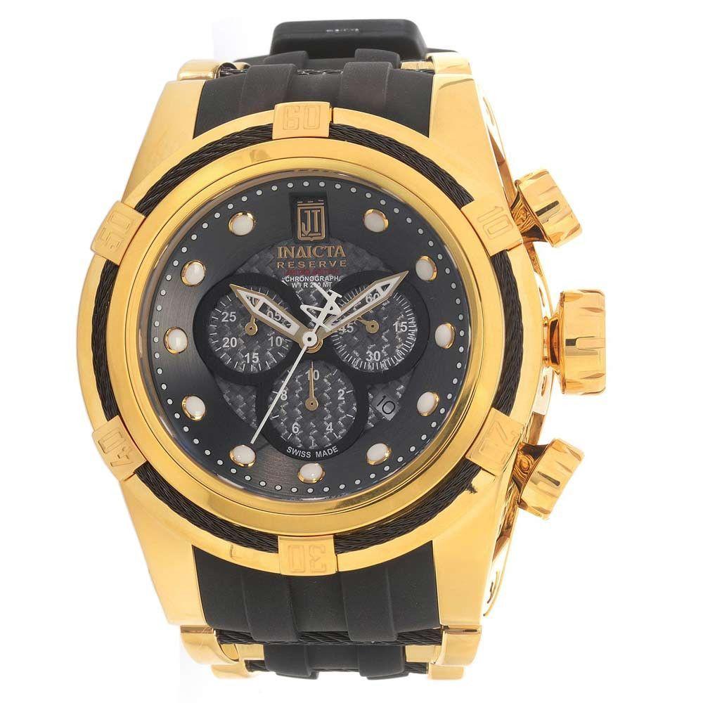 Invicta 16006 Men s Jason Taylor Bolt Zeus Grey Dial Steel   Rubber Strap  Chronograph Dive Watch 4fbcde172a