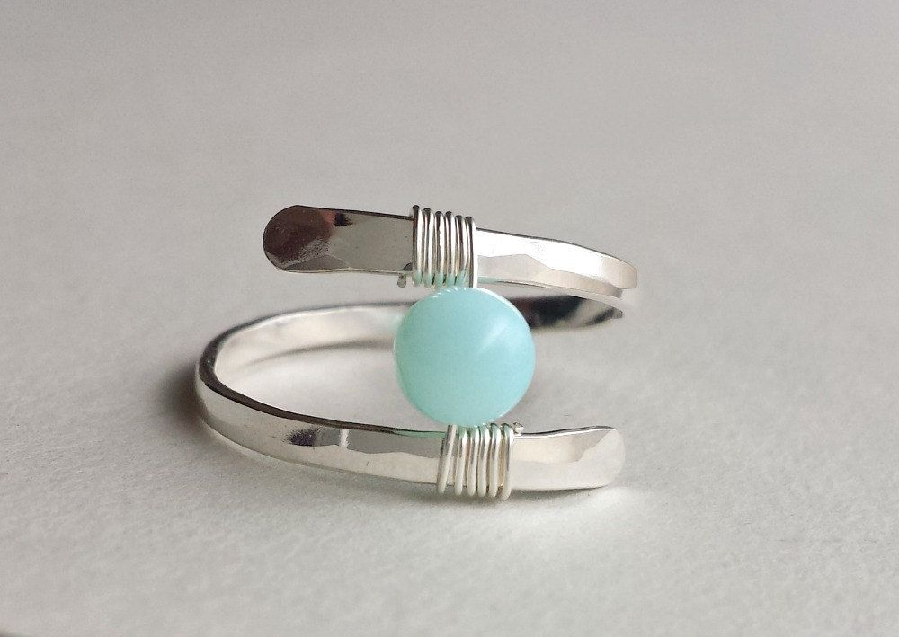 Blue+Peruvian+Opal+Ring+Solitaire+Sterling+by+BellaAnelaJewelry,+$ ...