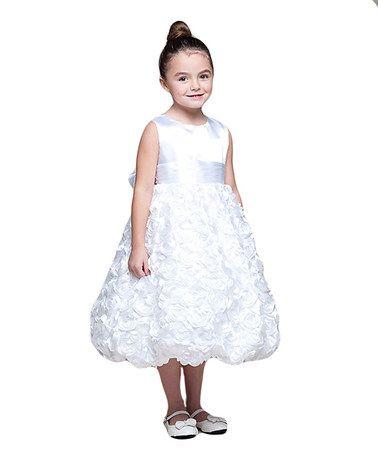 296a88bb0ca9 Crayon Kids White Rosette-Skirt Dress - Girls