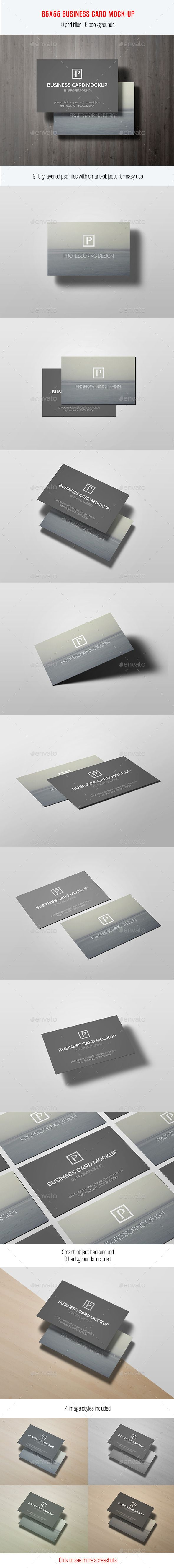 85x55 Business Card Mock Up Vol 2 Business Card Mock Up Business Cards Business Card Logo