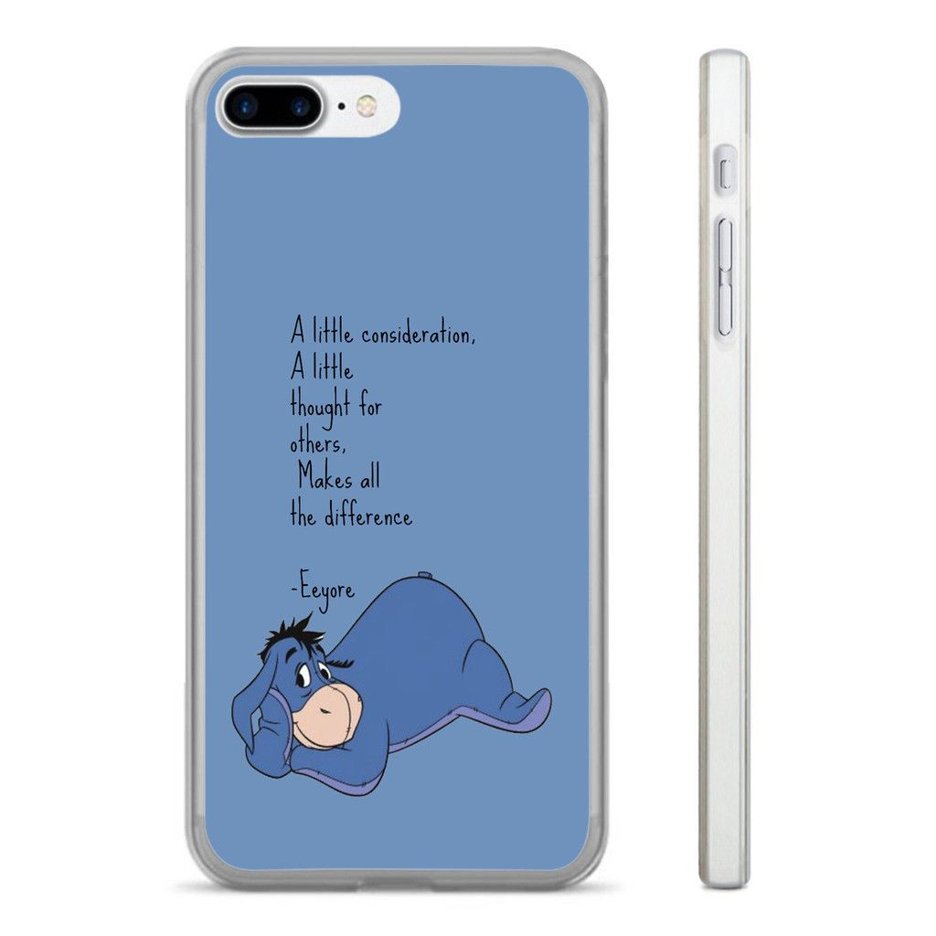 Eeyore quote consideration hard clear phone case cover