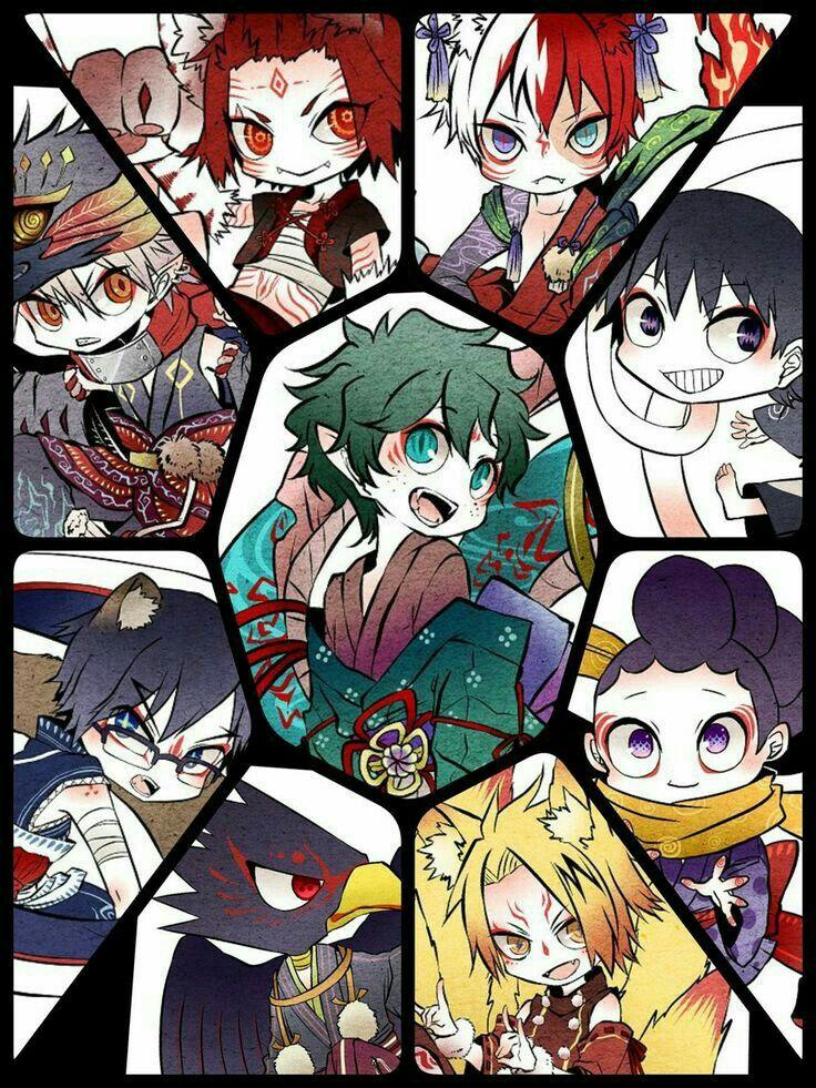 My Hero Academia characters, cute, monsters, mystical