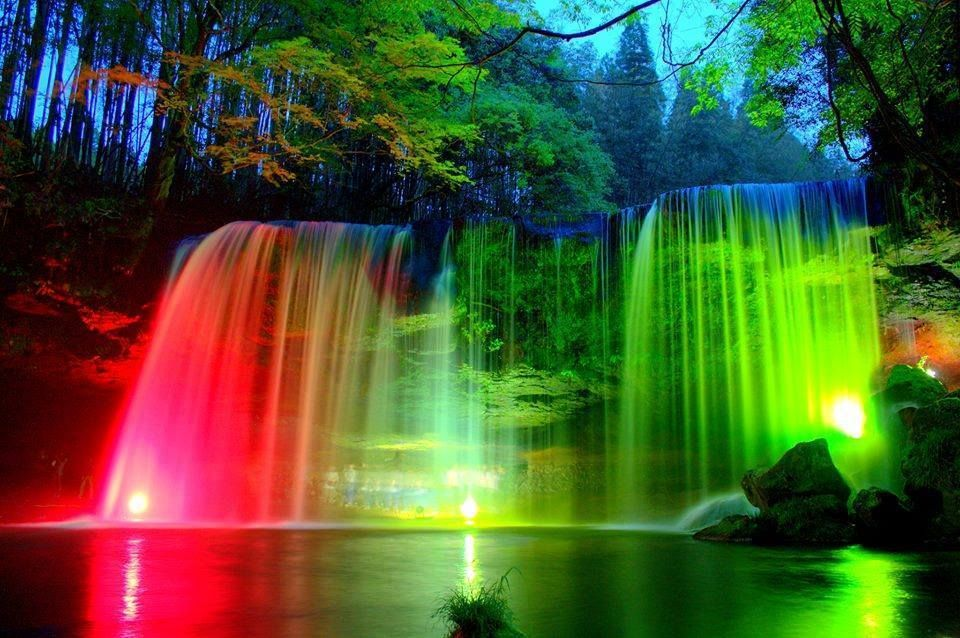 Colorful Waterfall Rainbow Waterfall Waterfall Pictures