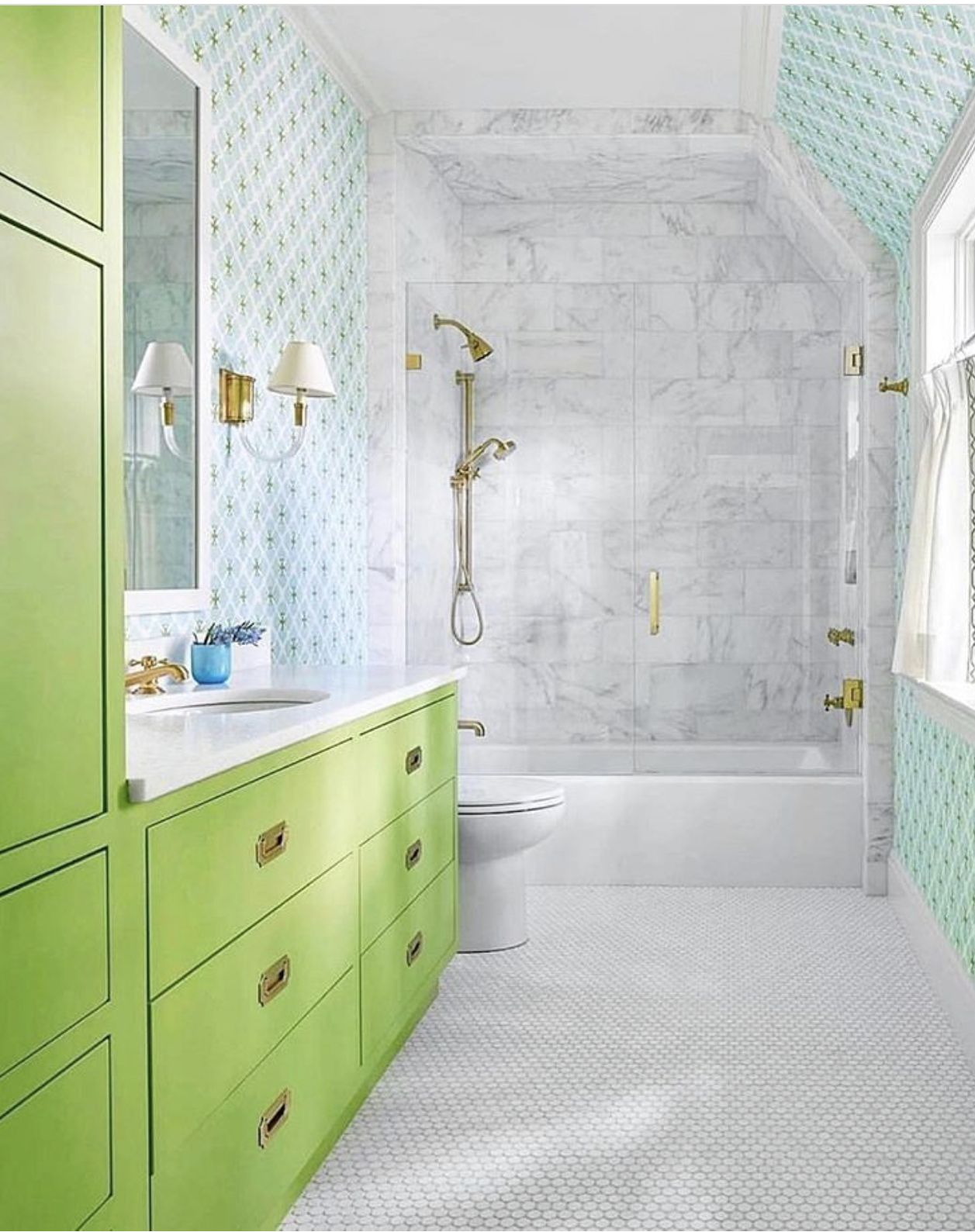 Love This Bath By Collins Interiors In 2020 Lime Green Bathrooms Amazing Bathrooms Bathroom Kids
