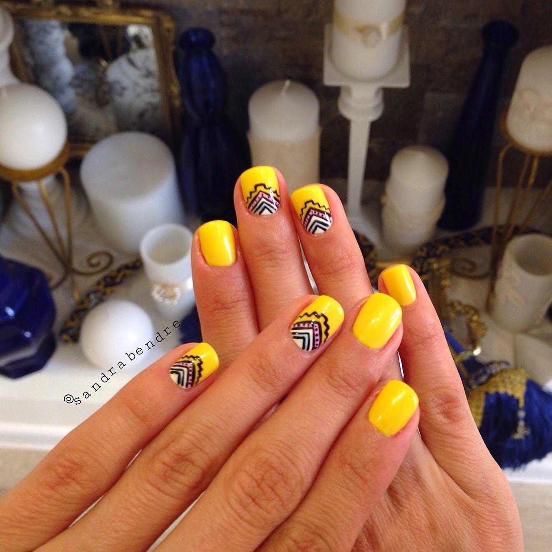 Sandra Bendre Yellow And Summerish Nails By Nail Art Studio By