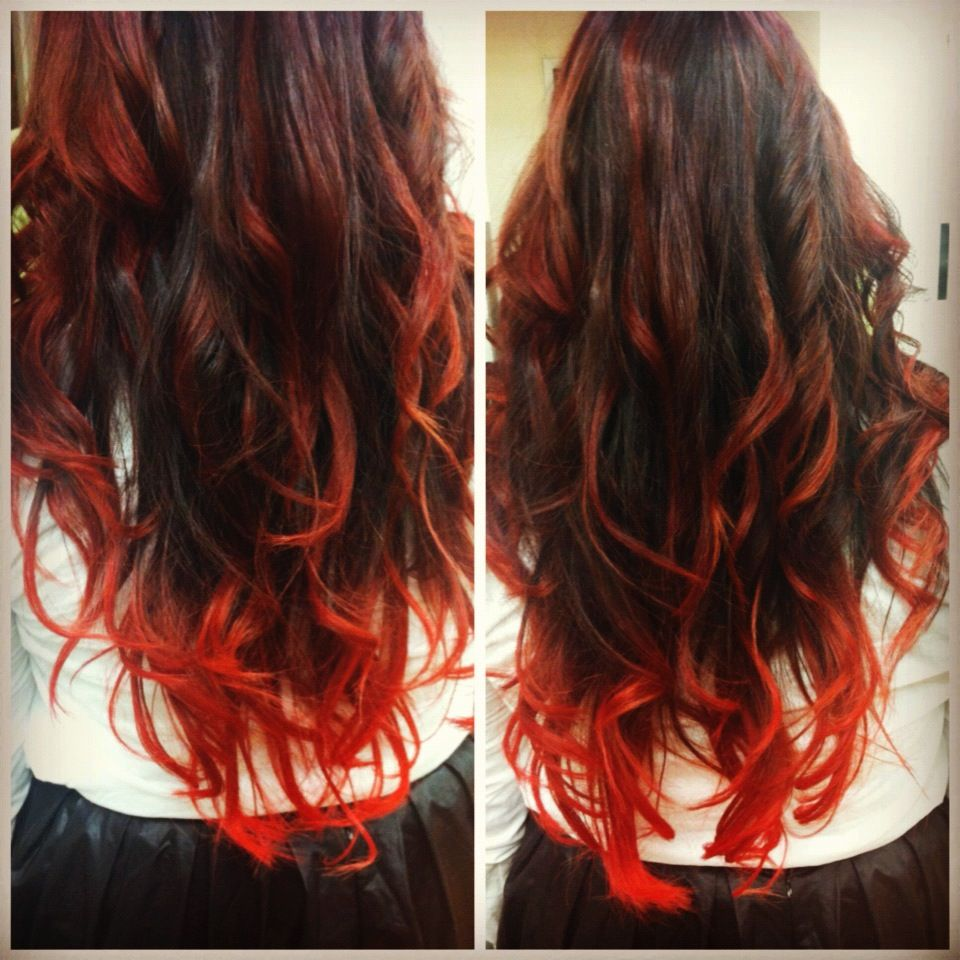 Look - Ombre auburn hair tumblr photo video