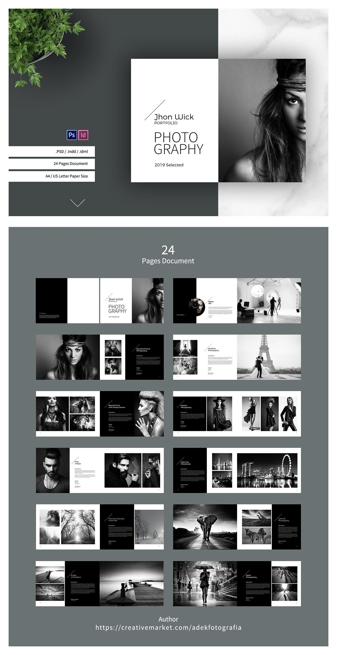 Photography Portfolio Photography Portfolio Template Photography Portfolio Photography Brochure