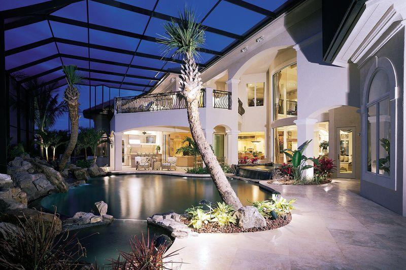 Mediterranean Style House Plan 5 Beds 6 Baths 5816 SqFt Plan