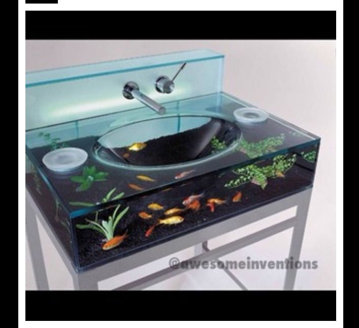... Fish Bowl Terrarium, Little Fish Tank Sink!! Awesome!!! | Awesome  Inventions | Pinterest .