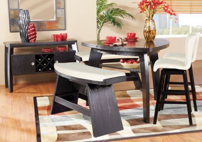 8c10c2957706e Love how nontraditional this dining room set is. Although I d prefer it in  white   black instead
