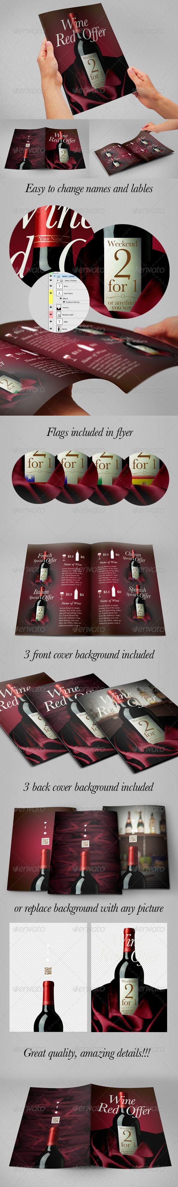 wine flyer special offer flyer bottle flyer template and templates · wine flyer special offer