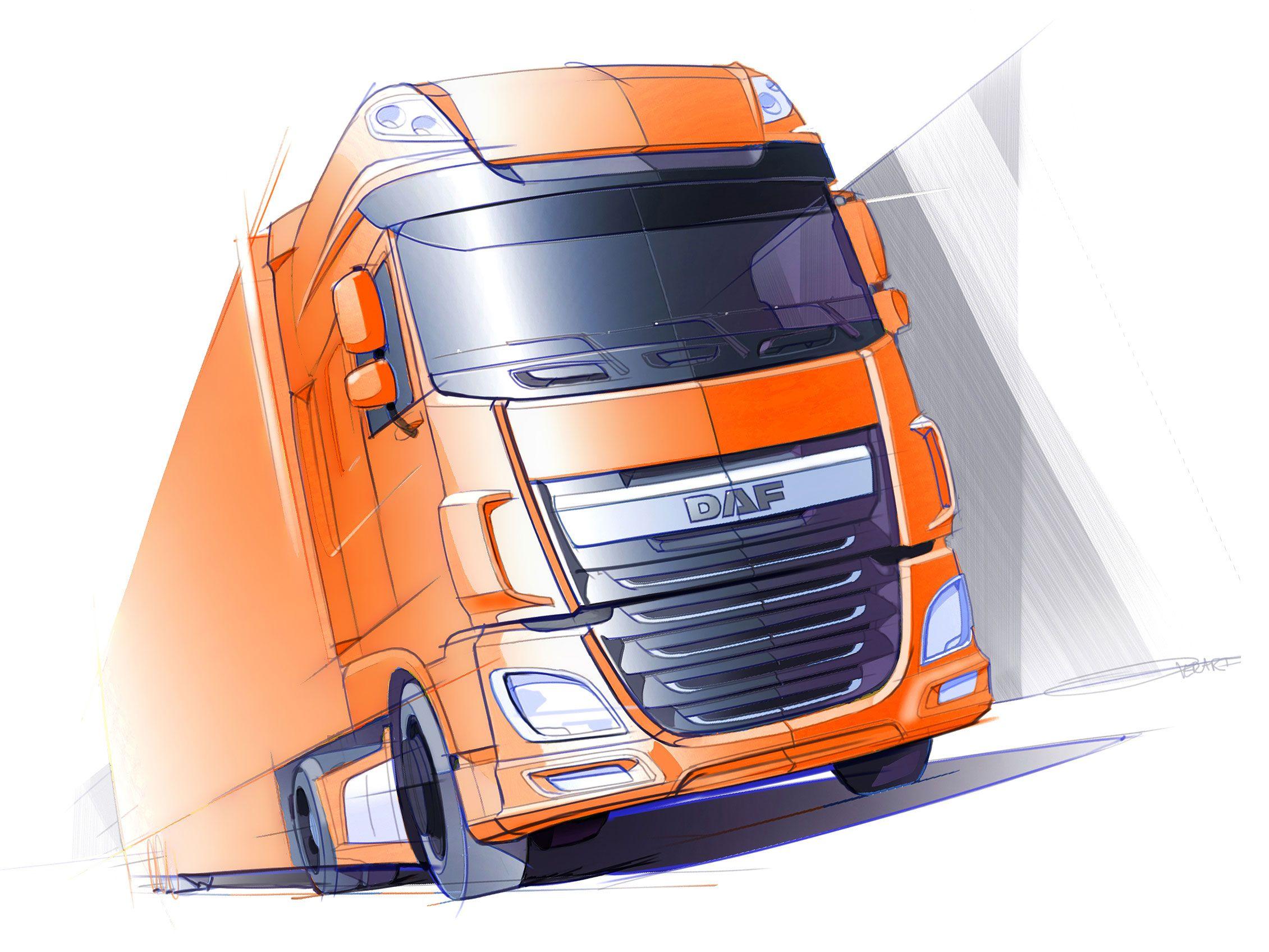 New Daf Xf Design Sketch Car Body Design Truck Design Car Design Sketch Design Sketch